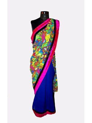 Quirky print saree