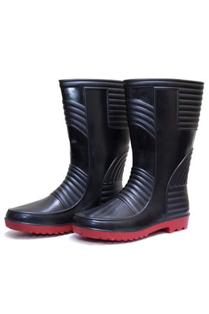 Safety Gumboots - Welsafe Black-Red