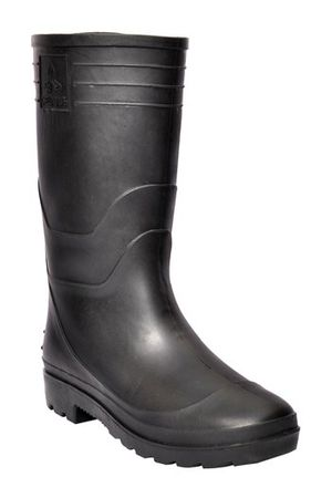 Safety Gumboots - Welcome -Black-Black