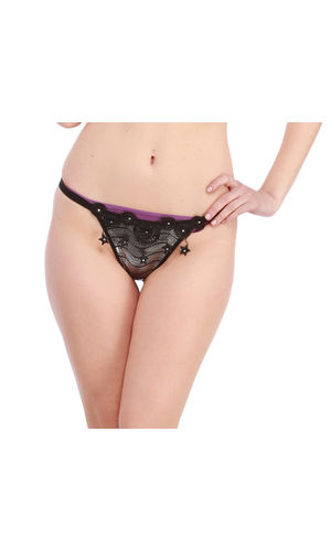 Black Stary  Night Sleek G-String