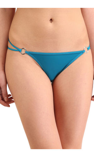 Solid Silver  Buckle  Thong , Color- Turquoise