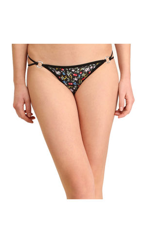 Black Berries Stainless Thong