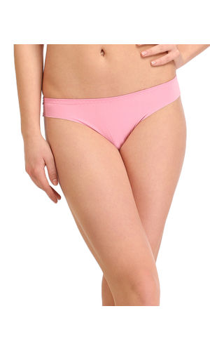 Laser Cut Seamless Thong, Color- Light pink