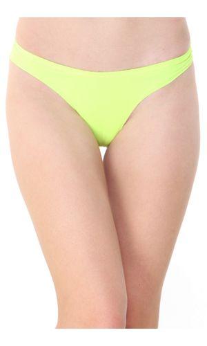 Glus Seamless  LAZER CUT  Thong, Color-Green