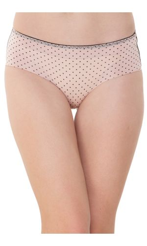 Peach Dots LASER CUT Seamless Stainless Hipster, SEAMLESS,STAINLESS,PANTY