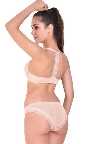 9eab8c158414d Angels Aura Women s T-Back Push Up Front Open Bra and Bikini Set