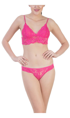 Glus Super SEXY ,SEDUCTIVE HONEYMOON Lingerie Set ,Color- Magenta