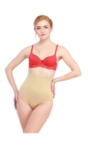 Glus Tummy Flatner Shapewear With Butt Control. Color- Nude