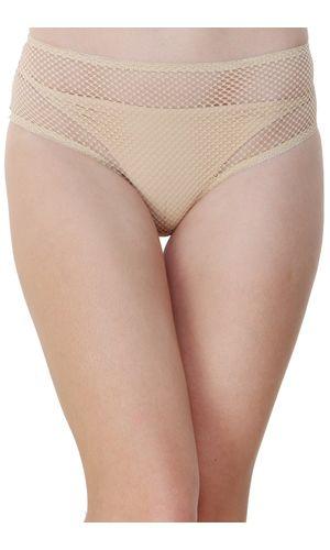 Glus Women's Hide And Seek Bridal Honeymoon Bikini Cut Panty, Color- Nude