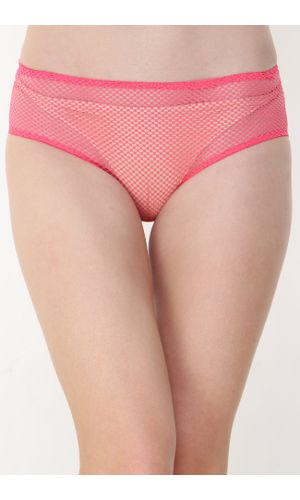 Glus Women's Hide And Seek Bridal Honeymoon Bikini Cut Panty, Color- Pink