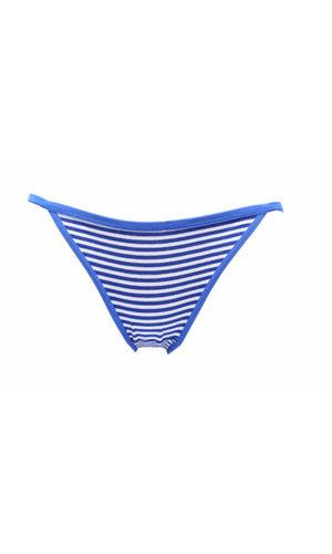 Glus Striped String Bikini Cut Panty, Color - Blue
