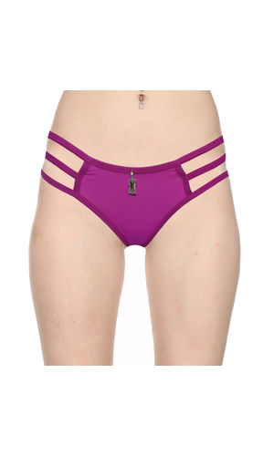3 Stripes Soild Thong -Pure Comfort , Color- Purple
