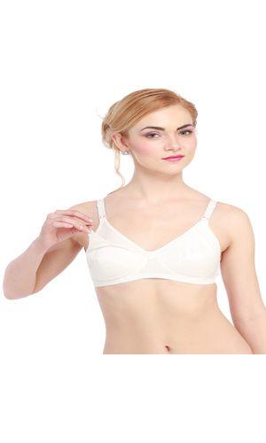 Ladyfab Wire Free New Mom's Feeding / Nursing Bra , Color -  Off- White