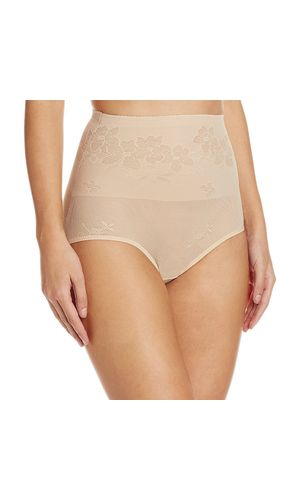 Glus Tummy Flatner Shape Wear High Waist Control Shapewear , Color- Nude