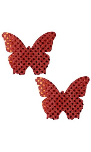 SEXY RED Butterfly Nipple Pasties / Nipple Covers