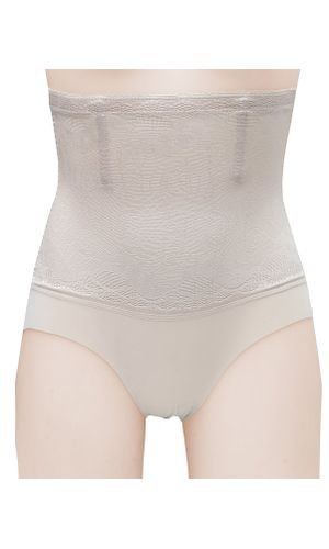Laced Magic Wire No Rolling Down Tummy Tucker Women's Shapewear, Color- NUDE.