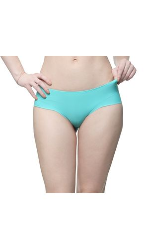 Glus Seamless Lazer Cut Hipster Panty, Color-Seagreen