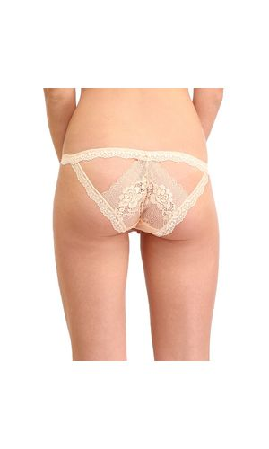 Glus Honeymoon Nights String Bikini Cut Panty, Color- Nude