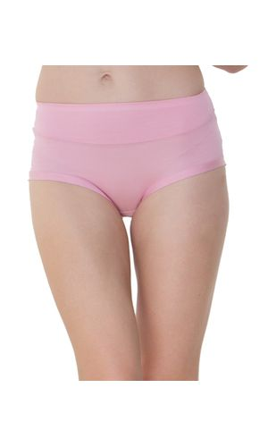 Glus High waist Plus Size Bikini Cut Stainless Panty, Color- Pink