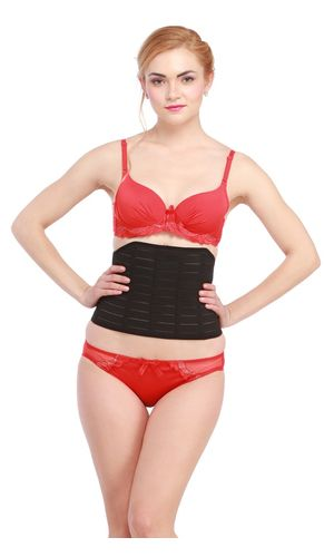 Glus  Waist Shaping Tummy  Front Open Belt, Color-Black