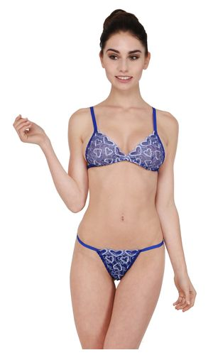 9c742633ee7e4 sold-out-image Glus Women Blue Moon Bridal Honeymoon Bra And G- String Set