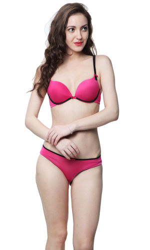 2c0931d3c1 sold-out-image Contrast Balconette Underwire Pushup Bra   bikini Panty set