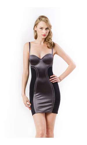 Scandale Champagne Gold Dress Shapewear, Size- 38B, Color- silver Grey