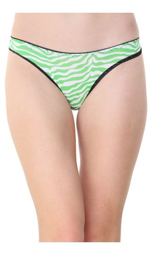 Glus Zebra Print Thong, Color- Green