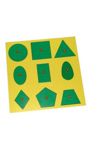 Geometry Tray of 9 shapes
