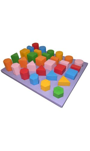 Tray with 3D Geo Shapes: 30 shapes