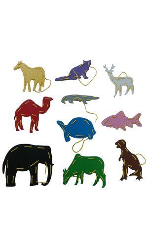 Threading Boards Animals: Set of 8