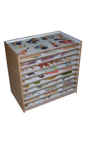 Rack for 10 inset boards / theme puzzles