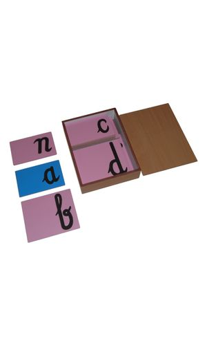 LC Sandpaper Letters Cursive