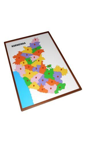 Map Puzzle: Karnataka