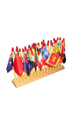 Flags of 30 Countries With stand