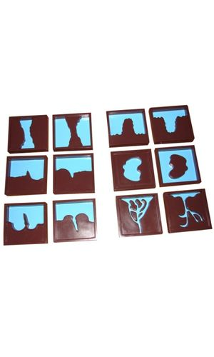 Geography Land Form Trays: 3D Moulds - 6 Pairs