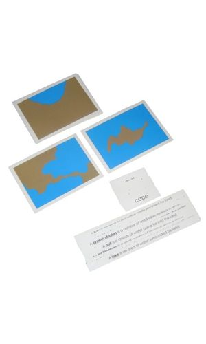 3 Part Control Cards - Land & water forms: 5 Pairs