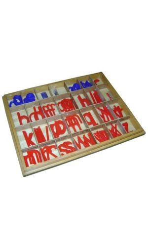 Moveable Alphabet Print Large Plastic (red & blue)