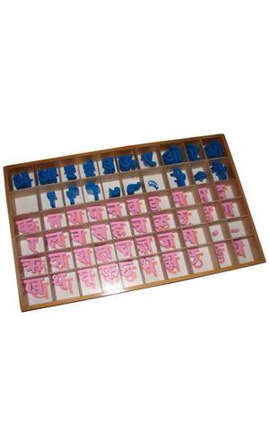 Hindi Moveable Alphabet: Single Box with alphabets and matras