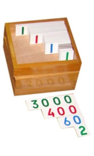 Small Number Cards 1- 3000: Set of 3