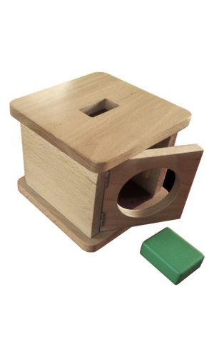Infant Imbucare box with rectangular prism