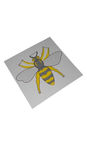 Control Card Bee Puzzle