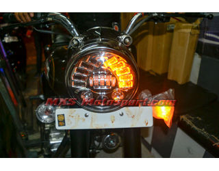 MXSHL425 Tech Hardy Stage  2 Led Adaptive Headlight Royal Enfield Bullet 350 & 500  Motorcycle