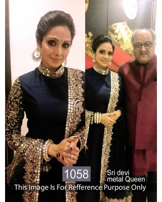SALWAR.UKElegent Sri Devi Black Deisgner Bollywood Suit