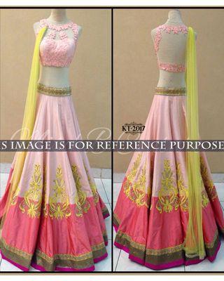 SALWAR.UK Salwarr.com Light Pink Designer Lehenga Choli