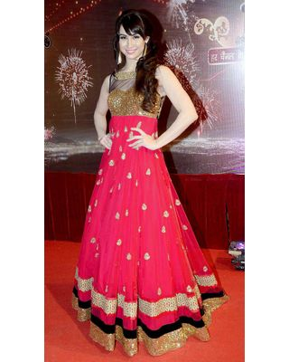 Salwar.uk  New Designer Bollywood Replica Lauren Pink Anarkali Salwar kameez