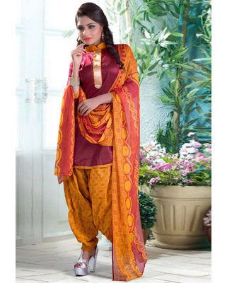 Cotton Salwar Set in Yellow