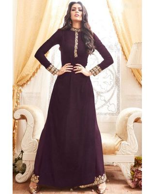 B308 Wine Georgette Palazzo Suit