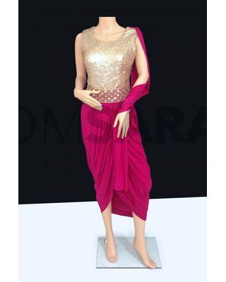 B757 Elegant Designer Readymade Pink Churidar Suit