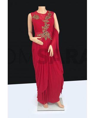 B758 Elegant Designer Readymade Red Suit
